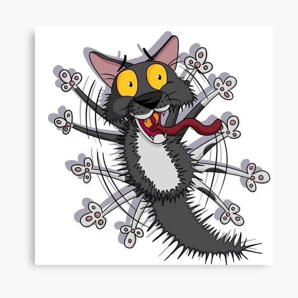 Pixel The Cowardly Cat! Canvas Print