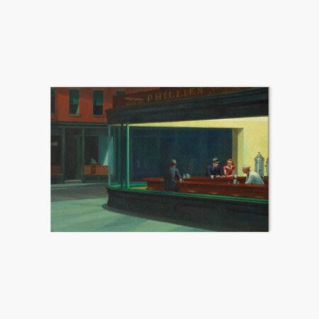 Nighthawks Edward Hopper Art Board Print