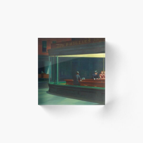Nighthawks Edward Hopper Acrylic Block