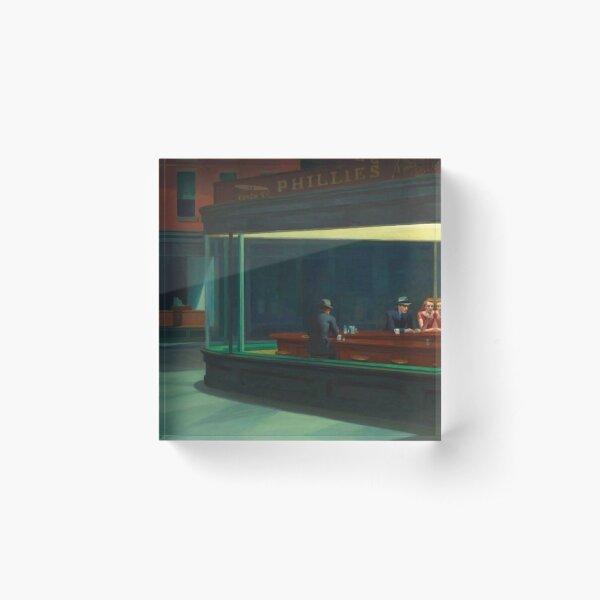 Nighthawks Edward Hopper Acrylic Block