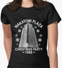 NAKATOMI PLAZA CHRISTMAS PARTY 1988  T-SHIRT Women's Fitted T-Shirt