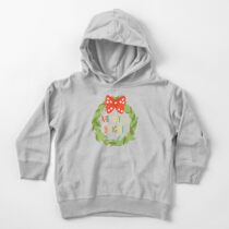 Merry & Bright Wreath Toddler Pullover Hoodie