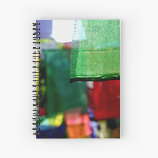 Abstract Prayer Flags 1  (Limited Edition Print of 50) Spiral Notebook