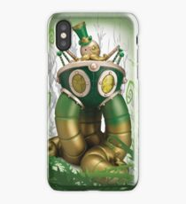 Mr Pumfrey and his Astounding Mechanised Perambulator (Spring Version) iPhone Case