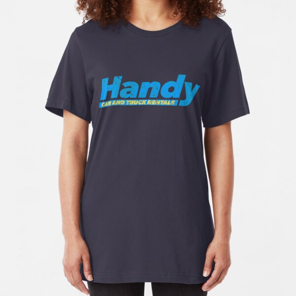 Handy Car and Truck Rental (worn) [Roufxis-RB] Slim Fit T-Shirt