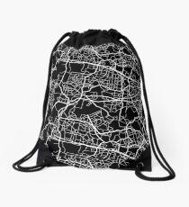 Cool City Map Pattern Drawstring Bag