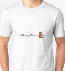 Country Music is Love Unisex T-Shirt