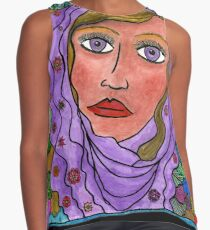 Woman with Veil Sleeveless Top