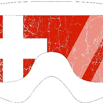 Swiss Goggles White Frame Distressed | Goggle Designs | DopeyArt by DopeyArt