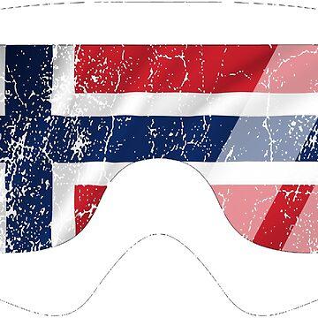 Norwegian Goggles White Frame Distressed | Goggle Designs | DopeyArt by DopeyArt