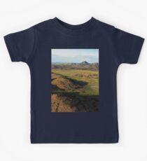a desolate Mexico landscape Kids Tee