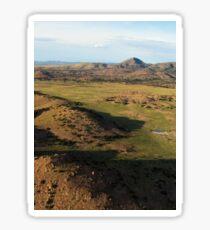 a desolate Mexico landscape Sticker