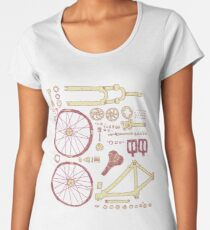 Bicycle Parts Women's Premium T-Shirt