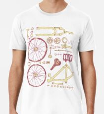 Bicycle Parts Men's Premium T-Shirt