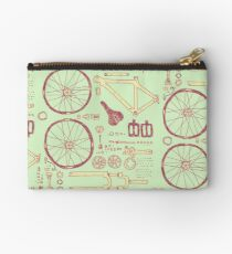 Bicycle Parts Zipper Pouch