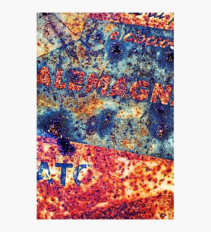 Alemagna - Rusted Abstract Photographic Print
