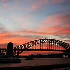 Sydney Harbour Bridge at sunset, Sydney NSW by LozzaElizabeth