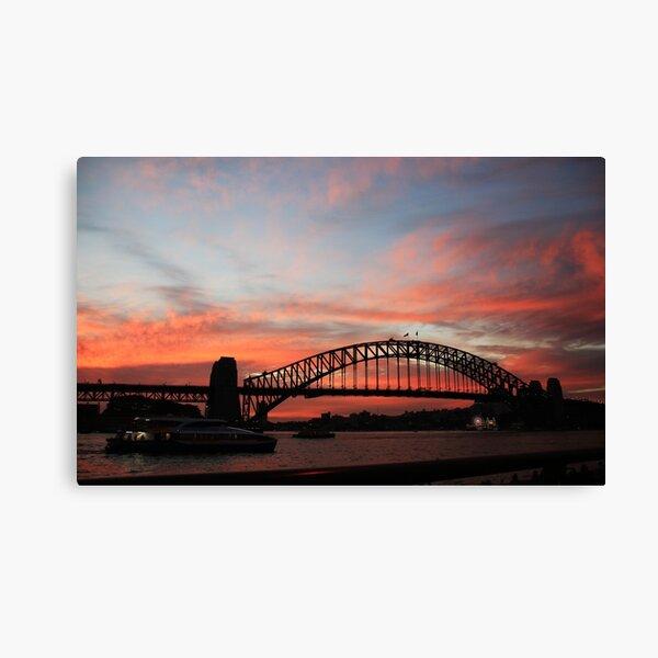 Sydney Harbour Bridge at sunset, Sydney NSW Canvas Print