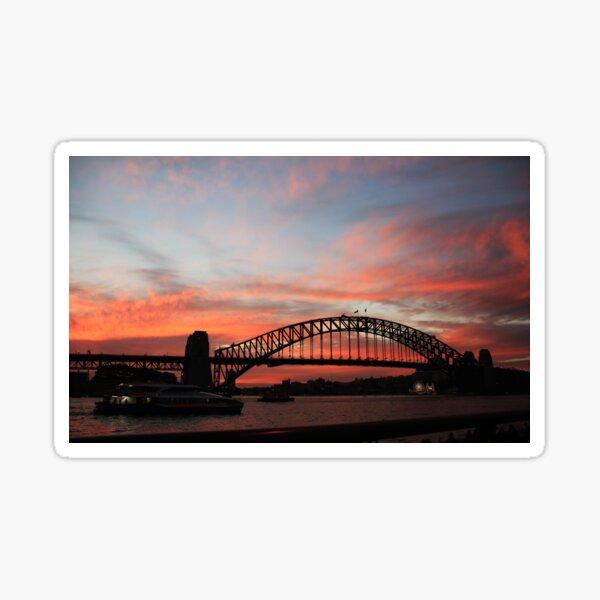 Sydney Harbour Bridge at sunset, Sydney NSW Sticker