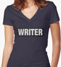 Writers aren't bulletproof Women's Fitted V-Neck T-Shirt