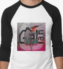D-White Noise - Galah Merch - Version 0 Baseball ¾ Sleeve T-Shirt