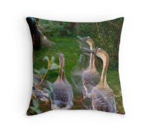 Hazy Geese II Throw Pillow