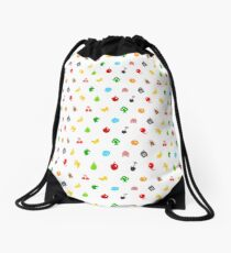 Animal Crossing Icons Drawstring Bag