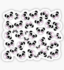 Kawaii Cute Panda Pattern Sticker
