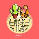Scribbles & Prickles: High five by Em Varosky