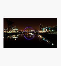 Clyde arc bridge at night Photographic Print