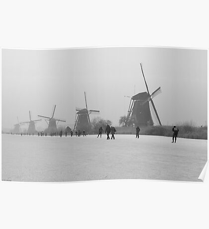 Winter Nostalgia: Icescating Home Poster