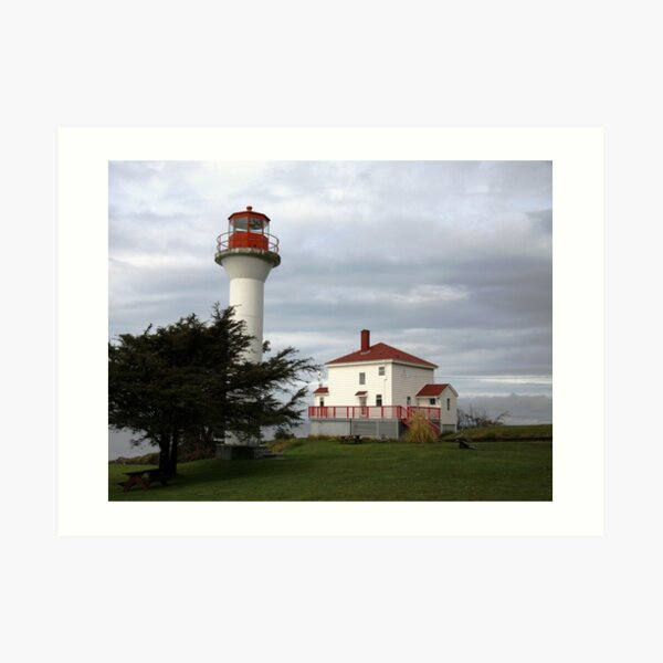 Lighthouse, Mayne Island Art Print
