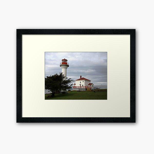 Lighthouse, Mayne Island Framed Art Print