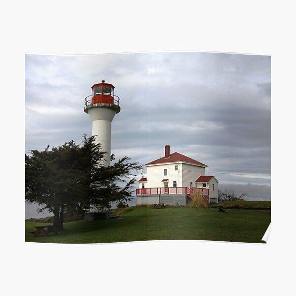 Lighthouse, Mayne Island Poster