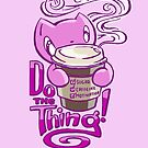 Scribbles: DO THE THING (pink) by Em Varosky