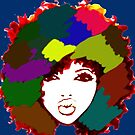 Afro Curly Rainbow Hair Girl Curly Natural Hair by EllenDaisyShop