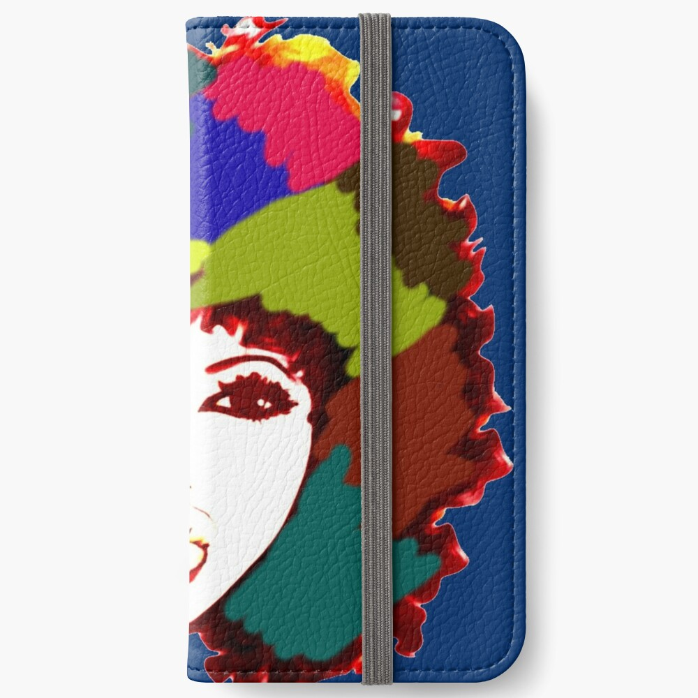 Afro Curly Rainbow Hair Girl Curly Natural Hair iPhone Wallet
