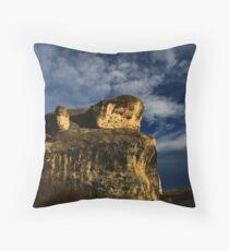 Frog Rock near Hamner Springs, New Zealand Throw Pillow