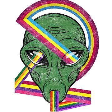 Alien Rainbow Rays by Diardo