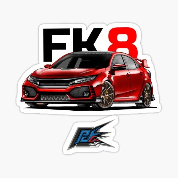 honda civic fk8 red  Sticker
