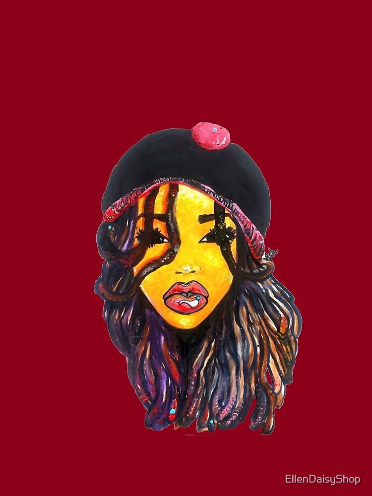 Jamaican Women Dope Dreads Locs Natural Hair Rasta Girl by EllenDaisyShop