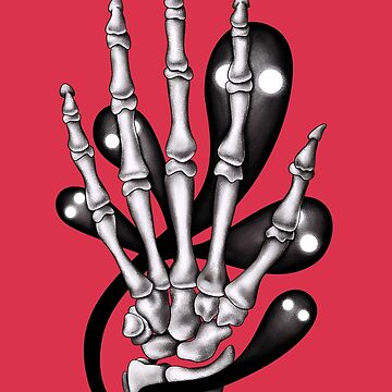 Skeleton hand with ghosts by azzza