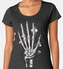 Skeleton hand with ghosts Women's Premium T-Shirt