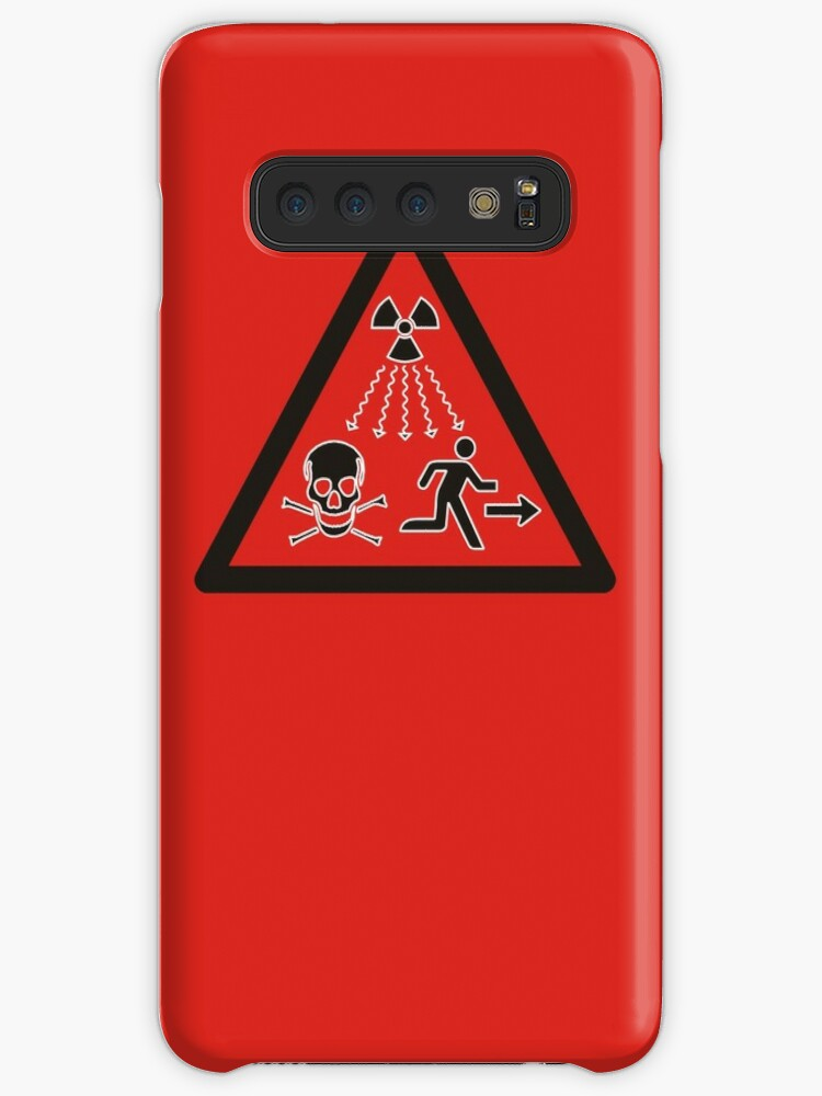 'Radiation danger - high level sources sign  Red triangle ' Case/Skin for  Samsung Galaxy by 2monthsoff