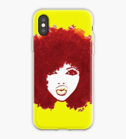 Gelockter Afro-Herbst stolz auf natürliches Haar-T-Shirt iPhone-Hülle & Cover