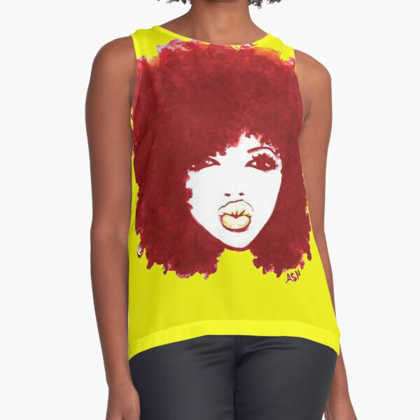 Curly Afro Autumn Proud Of Natural Hair T-Shirt Sleeveless Top