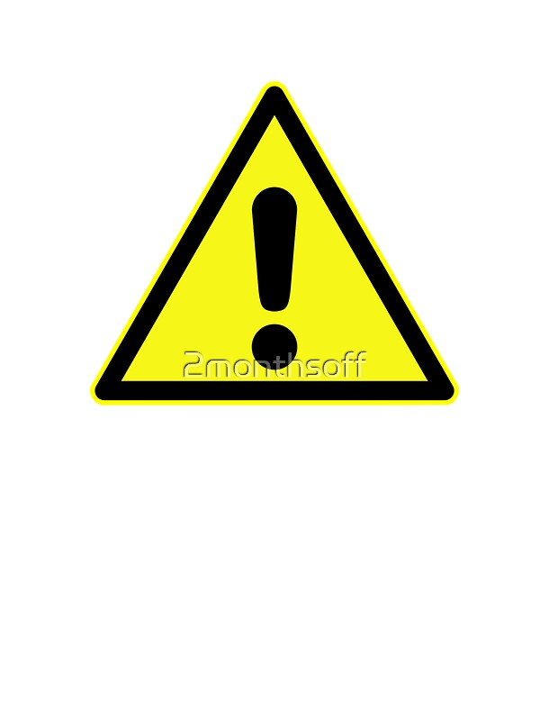 """Warning sign. Exclamation mark in yellow triangle ...