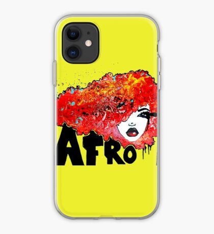 Afro Word Art Big Hair Typography Afro Hair  iPhone Case