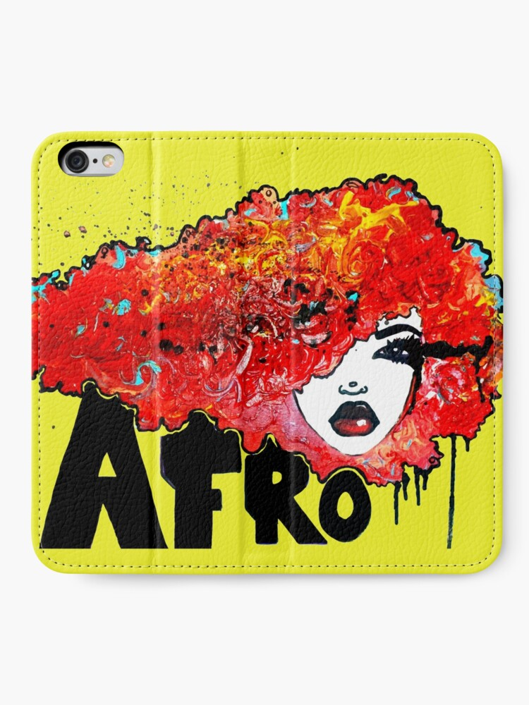 Alternate view of Afro Word Art Big Hair Typography Afro Hair  iPhone Wallet