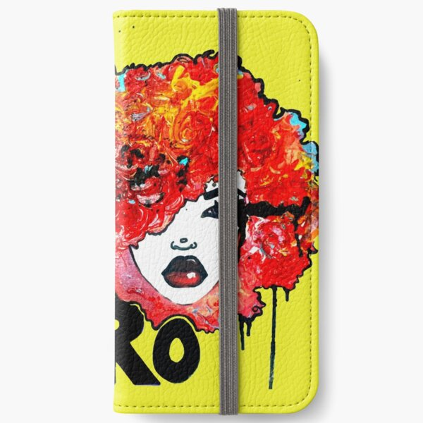 Afro Word Art Big Hair Typography Afro Hair  iPhone Wallet